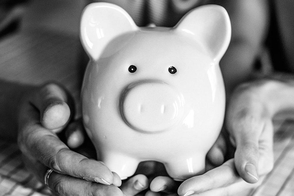 Piggybank representing pension transfer lump sum