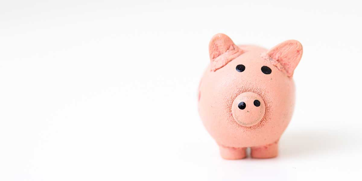 pink piggy representing pension savings