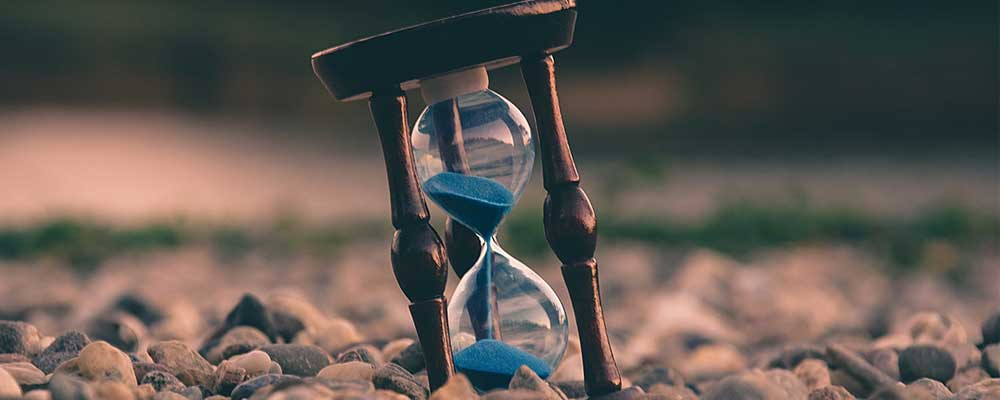 Hourglass denotes running out of time on EU question