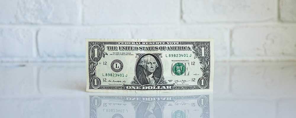 US dollar bill to represent American economic update
