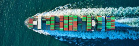 canal container ship